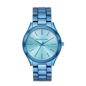 Michael Kors Slim Runway Watch Chrome Blue